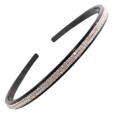 JUSTFOX - Luxus Haarreifen schwarz mit Strass - 1
