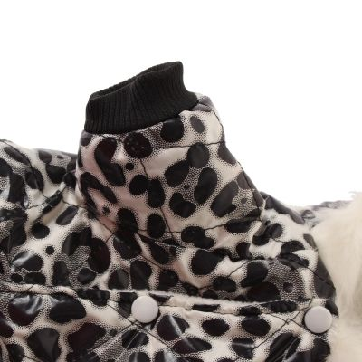 Hunde Jacke Mantel Winter Weste Hundebekleidung Leoparden Look Gr. S - 4