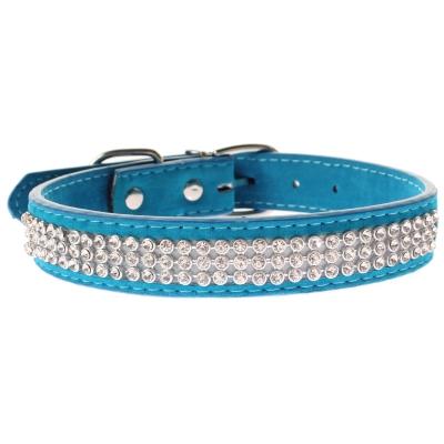 Hundehalsband Strasshalsband klein blau - 4