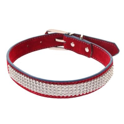 Hundehalsband Strasshalsband mittel rot - 1