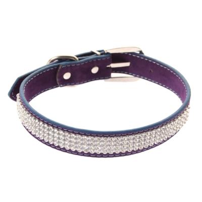 Hundehalsband Strasshalsband mittel lila - 1