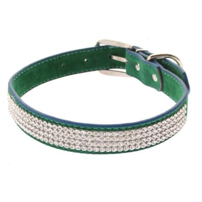 Hundehalsband Strasshalsband mittel grün - 1