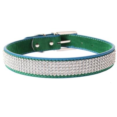 Hundehalsband Strasshalsband groß grün - 1