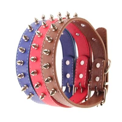 Metall-Nieten Hundehalsband Designer Rot, Blau, Braun - 2