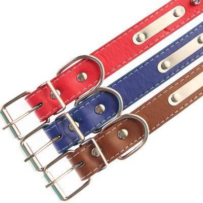 Metall-Nieten Hundehalsband Designer Rot, Blau, Braun - 4