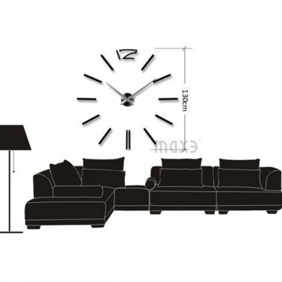 Designer Wanduhr für Wohnzimmer Zifferblatt Zahlen Deko XXL 3D - 1