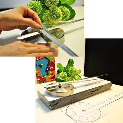 Designer Wanduhr für Wohnzimmer Zifferblatt Zahlen Deko XXL 3D - 2