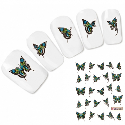 Nagel Sticker Nail Art Tattoo Bunter Schmetterling Aufkleber Neu!