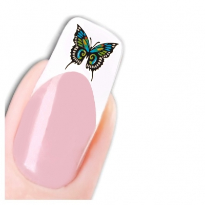 Nagel Sticker Nail Art Tattoo Bunter Schmetterling Aufkleber Neu! - 1