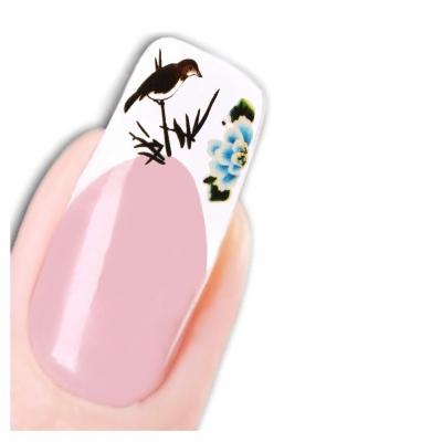 Nagel Sticker Nail Art Tattoo Japan Vogel Blumen Aufkleber Neu! - 1