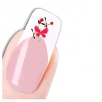 Nagel Sticker Nail Art Tattoo Schmetterling Blümchen Aufkleber Neu! - 1