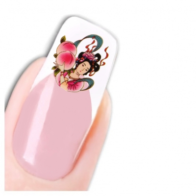 Nagel Sticker Nail Art Tattoo Japan Oriental Geisha Aufkleber Neu! - 1