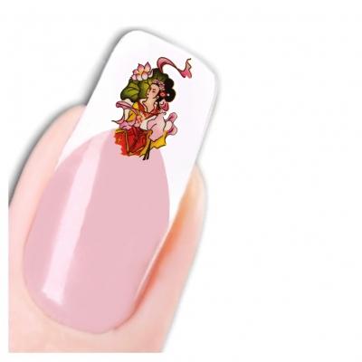 Nagel Sticker Nail Art Tattoo Oriental Figuren Japan Geisha Aufkleber Neu! - 1