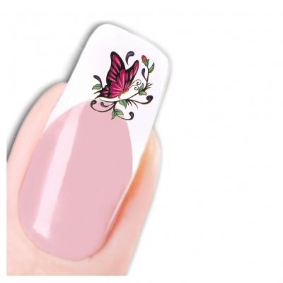 Nagel Sticker Nail Art Tattoo Lila Schmetterling Aufkleber Neu! - 1