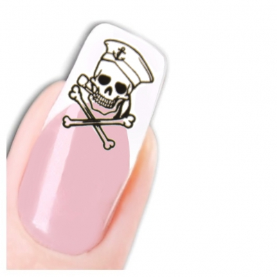 Nagel Sticker Tattoo Nail Art Totenkopf Aufkleber Neu! - 1