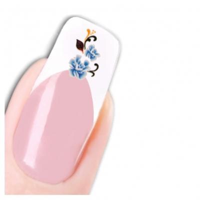 Nagel Sticker Tattoo Nail Art Blumen mit Ornament Aufkleber Neu! - 1