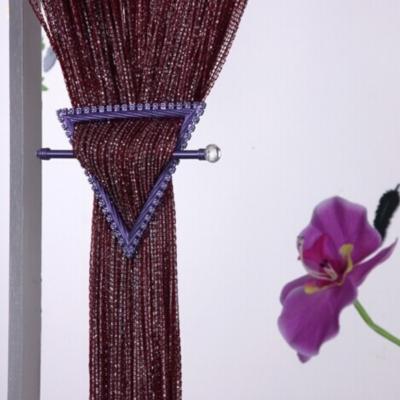 Fadenvorhang mit Lurex veredelt Raumteiler Glitzer Türvorhang Gardine - 2