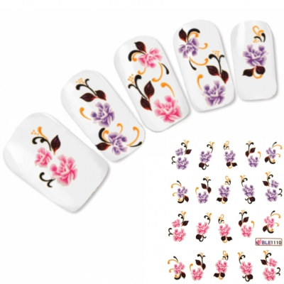 Nagel Sticker Tattoo Nail Art Blume Aufkleber Neu!