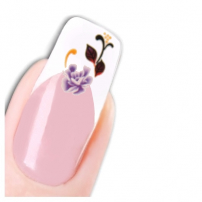 Nagel Sticker Tattoo Nail Art Blume Aufkleber Neu! - 1