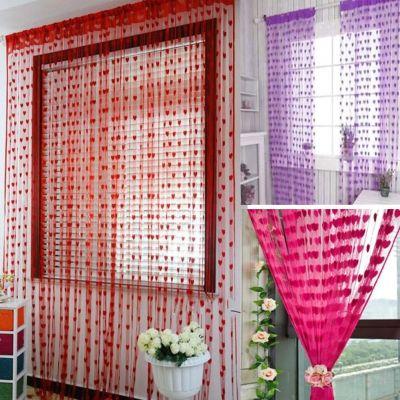 Raumteiler Türvorhang Gardine Vorhang Dekoration Herz Design - 1