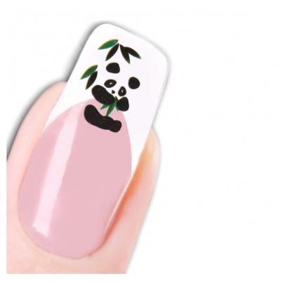 Tattoo Nail Art Panda Aufkleber Nagel Sticker Neu! - 1