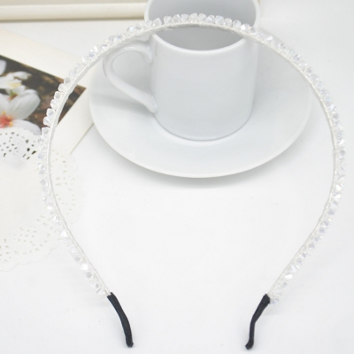 Luxus Strass Haarreif Hochzeit Haarschmuck Blumen weiß - 1