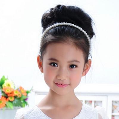 Mädchen Perlen Haarreif Kommunion Haarschmuck - 1