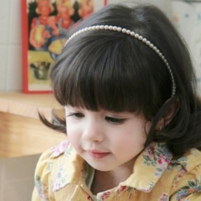 Mädchen Perlen Haarreif Kommunion Haarschmuck - 2