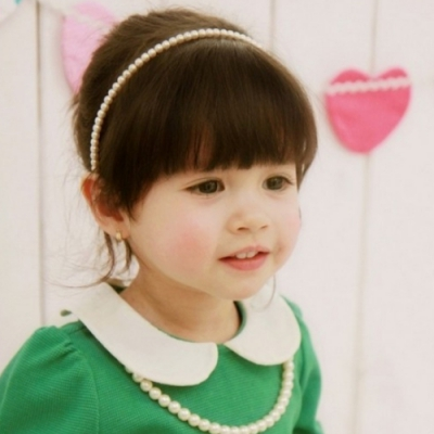 Mädchen Perlen Haarreif Kommunion Haarschmuck - 3
