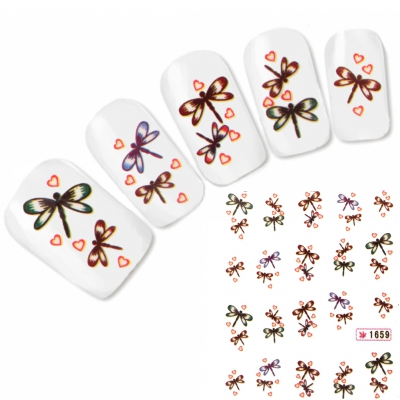 Tattoo Nail Art Libelle Aufkleber Nagel Sticker Neu!