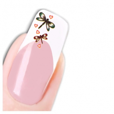 Tattoo Nail Art Libelle Aufkleber Nagel Sticker Neu! - 1