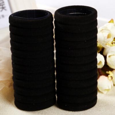 10 x Haargummis Nylon Elastisch Schwarz - 1