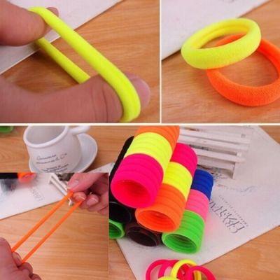10 x Haargummis Nylon Elastisch Neuer Trend Zopfband Haarband - 1
