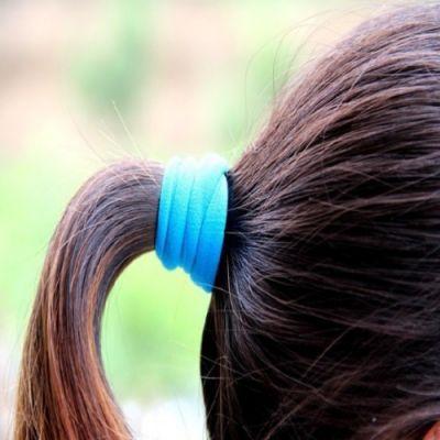 10 x Haargummis Nylon Elastisch Neuer Trend Zopfband Haarband - 2