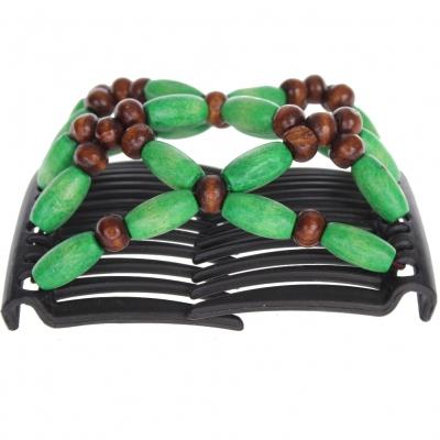 Trend African Hairclip Haarklammer Haarspange Hair Clips Haarkamm grün - 1