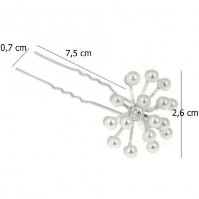 2 Strass Perlen Haarnadeln Braut Kommunion Hochzeit Blumen Haarschmuck Modell 1 - 4
