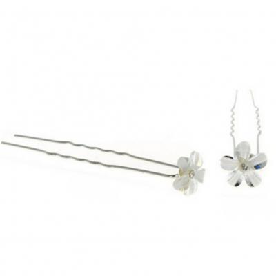 5 Strass Haarnadeln Braut Kommunion Hochzeit Haarschmuck Blumen Modell 1 - 3