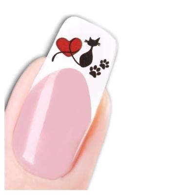 Tattoo Nail Art Katze Aufkleber Nagel Sticker Neu! - 1