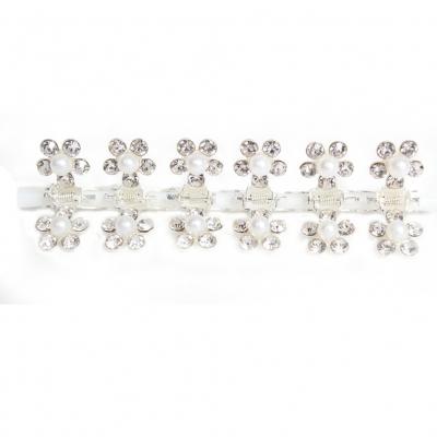 Mini Haarklammern Perlen Strass Hochzeit Haarclip Haarkneifer Haarspange Claw - 1
