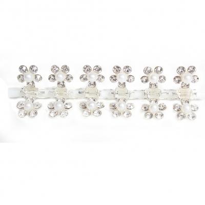 Mini Haarklammern Perlen Strass 6 Stück - 4