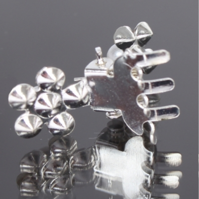 Mini Haarklammern Perlen Strass 6 Stück - 5