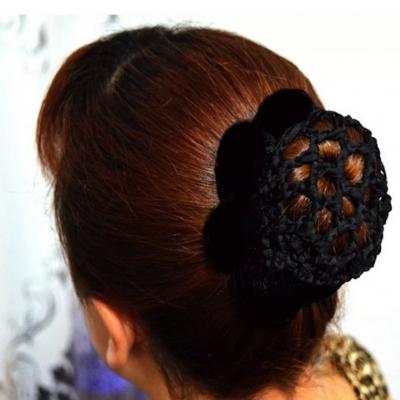 Dutt Netz Haarnetz Haar Frisurenhilfe Stoff Knotennetz 9 Farben zur Wahl schwarz - 1