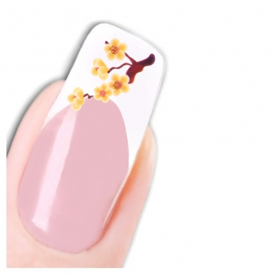 Tattoo Nail Art Glitzer Blumen Aufkleber Nagel Sticker Neu! - 1