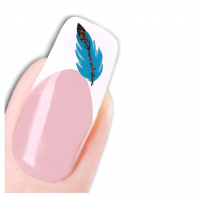 Tattoo Nail Art Feder Aufkleber Nagel Sticker Neu! - 1