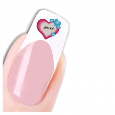 Tattoo Nail Art Herz Aufkleber Nagel Sticker Neu! - 1