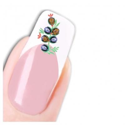 Tattoo Nail Art Weintrauben Aufkleber Nagel Sticker Neu! - 1