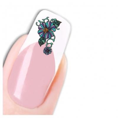Tattoo Nail Art Glitzer Blume Aufkleber Nagel Sticker Neu! - 1