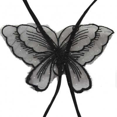 Schmetterling BH Träger in schwarz - 3
