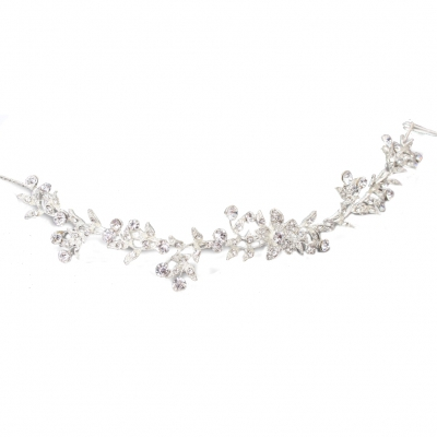 Luxus Strass Diadem Tiara in silber - 1