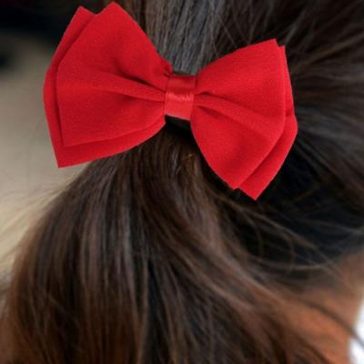 Schleife Haargummis Zopf-Halter Bow rot - 2
